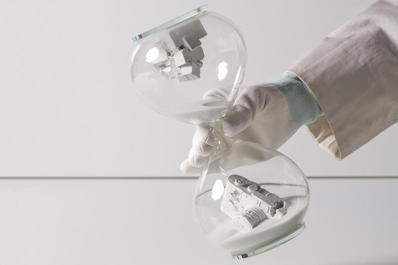 the hour glass exhibition daniel arsham nendo studio weiki somers marc newson artworks sculptures installations