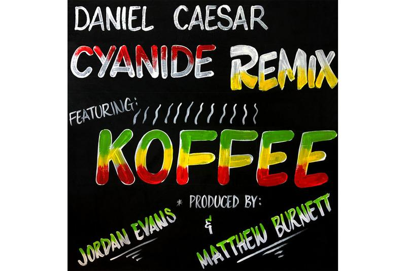 "Daniel Caeser ""CYANIDE REMIX"" Feat. Koffee single Stream spotify apple music listen now"