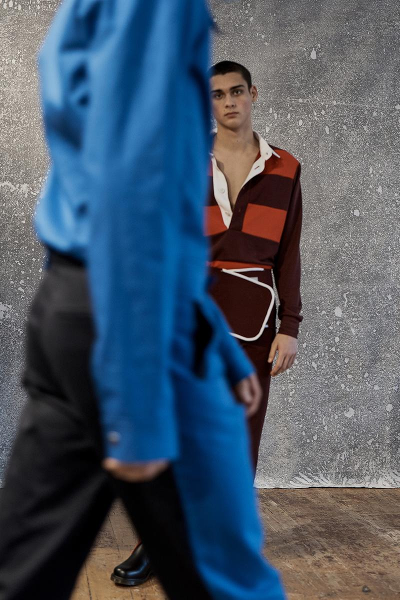 """Daniel W. Fletcher Fall Winter 2019 FW19 Collection Lookbook """"Postcards From the North"""" Prince of Wales Check Merino Wool Fabrics Textiles British Designer Menswear Heritage Abraham Moon & Sons"""