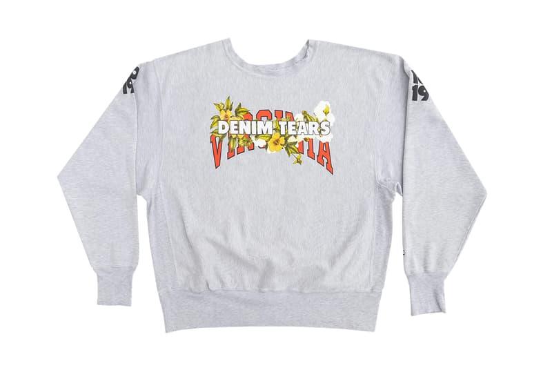Denim Tears x Virginia Crewneck Sweaters Hissing of Summer Tears Event Art