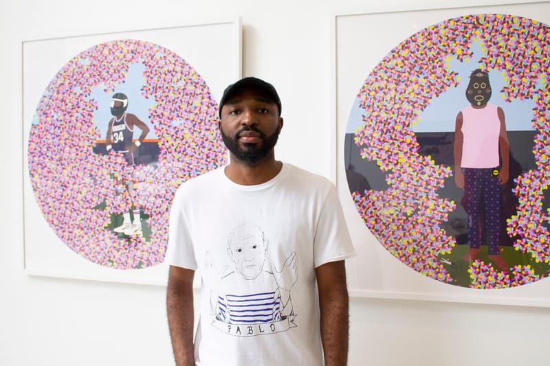 """Dennis Osadebe """"Field Of Dreams"""" Exhibition Avenue des Arts Los Angeles Pixelation Sculptures"""