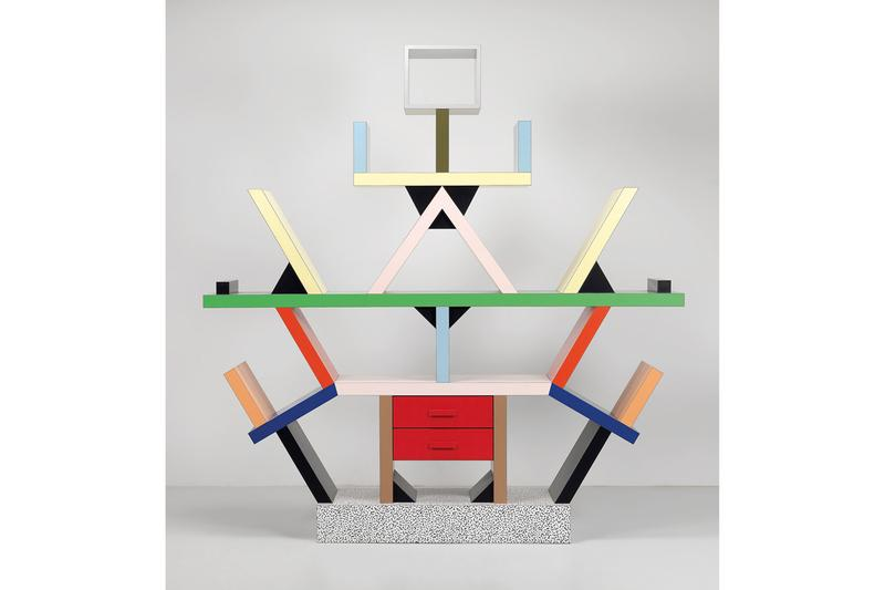 "designboom 20th Anniversary ""Treasures on Tape"" Ettore Sottsass Mobili Grigi Grey Furniture Mirror Bed"