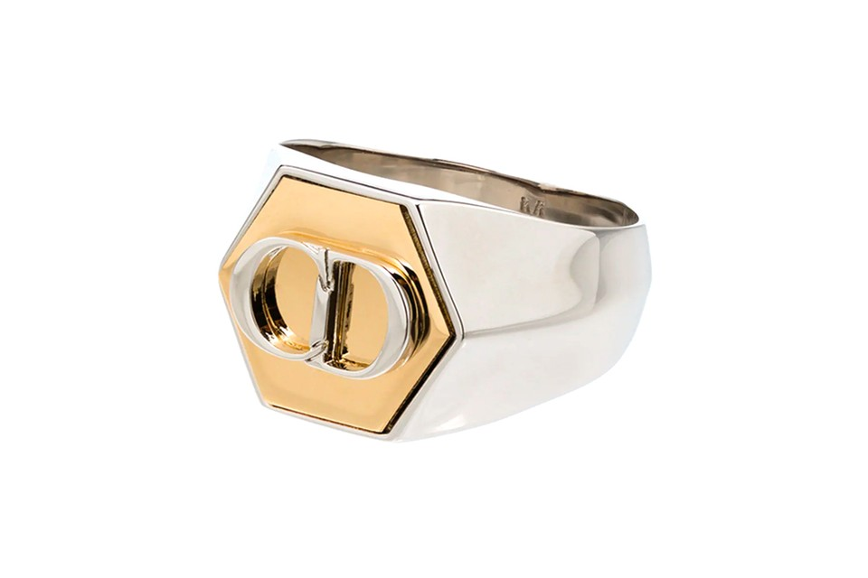 Dior Homme Crafts a Two-Tone CD Signet Ring