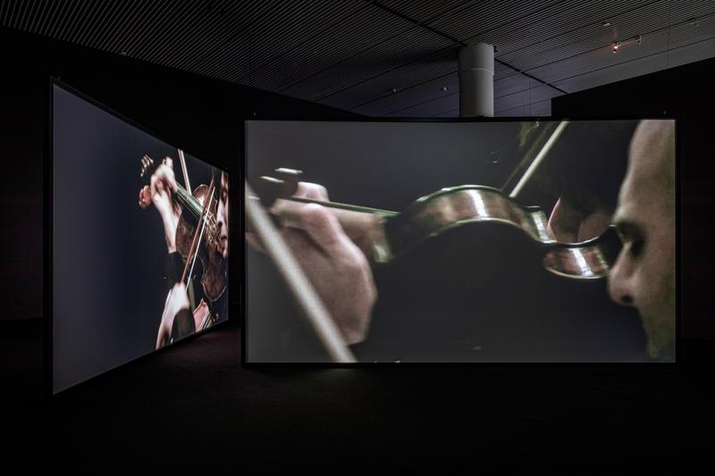 douglas gordon in my shadow exhibition video artist aros museum denmark presentation films Rufus Wainwright Philippe Parreno