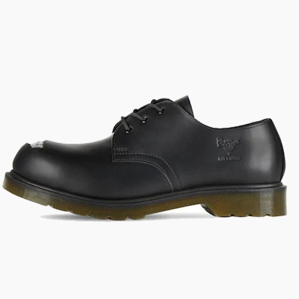 Raf Simons x Dr. Martens Steel Toe Black Leather Shoes