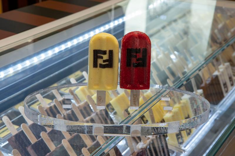 FENDI Steccolecco Popsicle Pop-Up Milan Central Station FF Logo Fashion Week Ice Cream