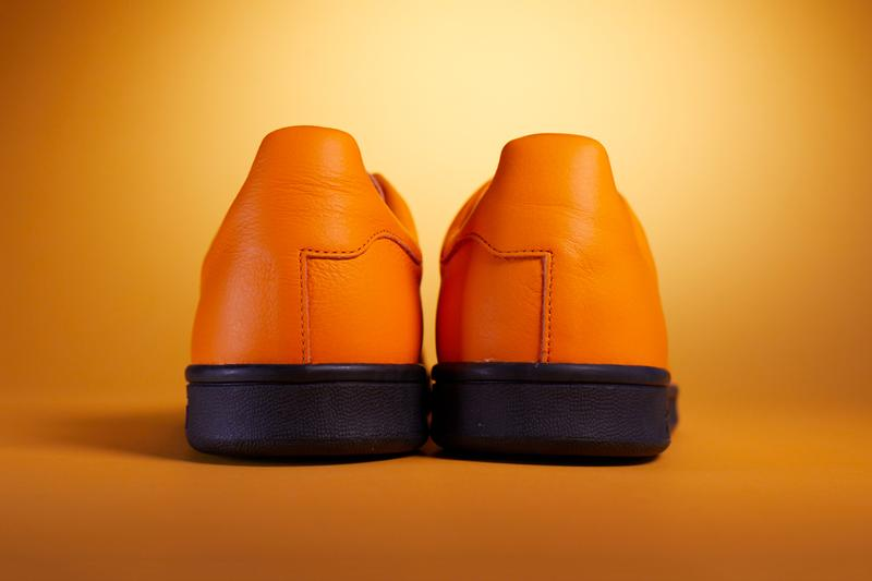 Fucking Awesome x adidas Originals Stan Smith Collaboration Footwear Kicks Sneaker Release Information First Look Orange Leather Black Sole Unit Metallic Branding Jason Dill Skateboarding Three Stripes