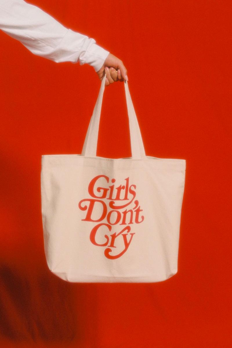 Girls Don't Cry Fall 2019 Collection Lookbook Verdy Hoodie Sweater T Shirt Keychain Rug Tote Socks
