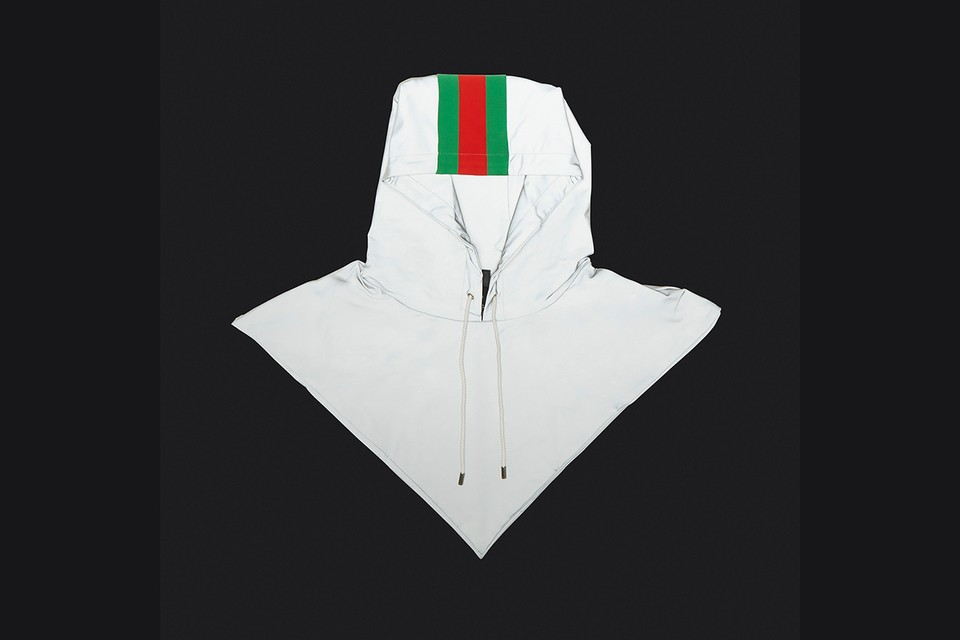 Gucci Readies You For Winter With Signature Stripe Reflective Hood