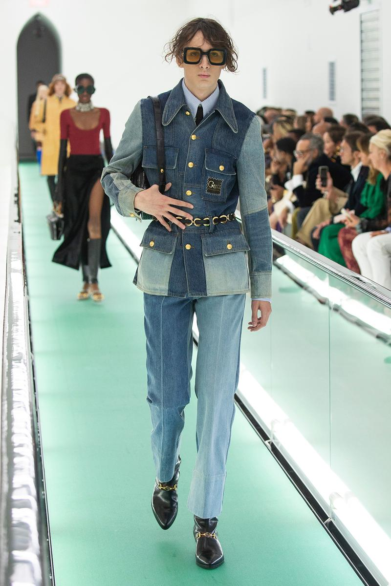 gucci spring summer 2020 ss20 milan fashion week stripped back protest mental health orgasmique erotique michel foucault first look collection show runway