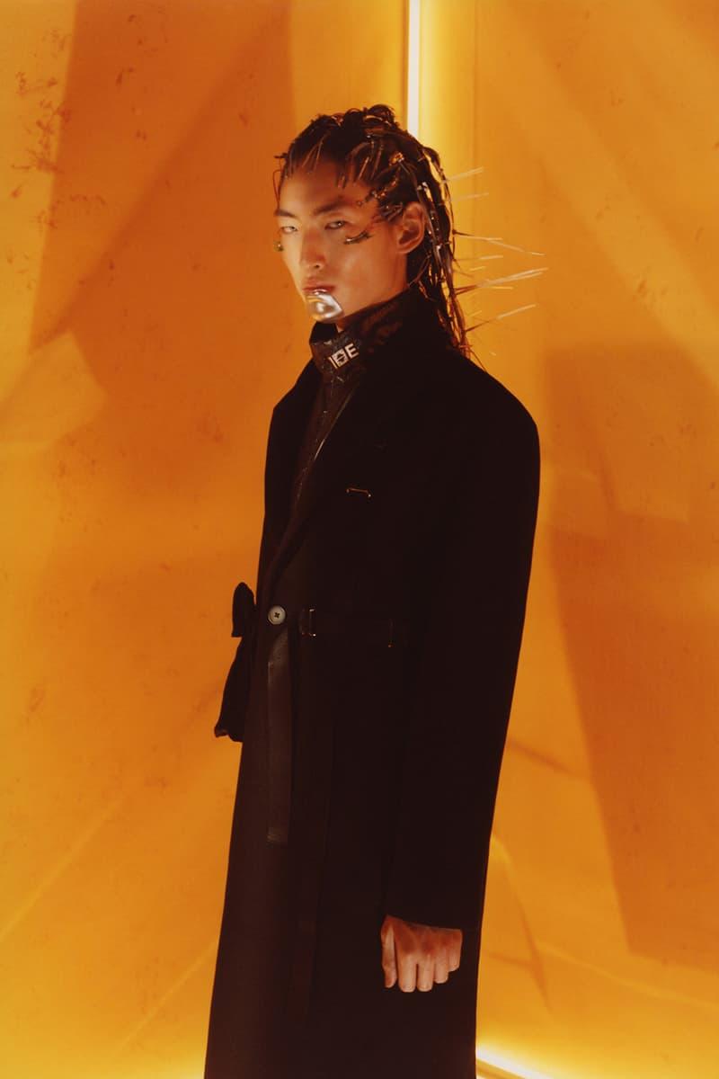 "IISE FW19 ""Inevitable Future"" Collection Lookbook Terrence Kevin Kim Seoul Korea brand modern tradition hanbok bojagi stitching chogiseok photographer"