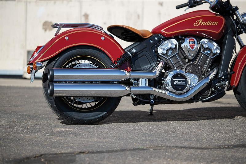 Indian Motorcycle Centenary Scout Limited Editions anniversary 100th motorbikes engineering american riding