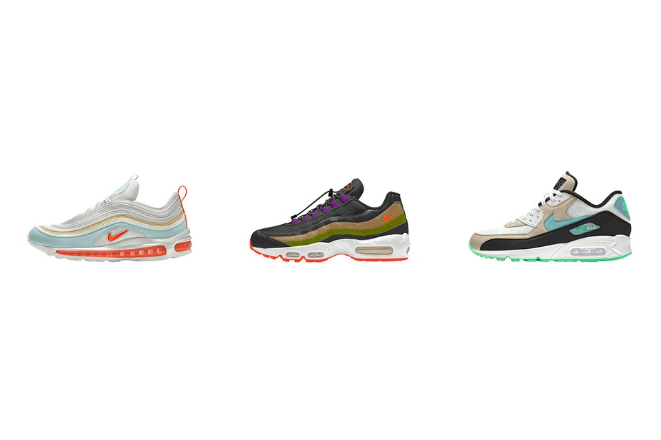 International Girl Crew Offers Up Customizable Nike By You Air Max 90, 95 & 97