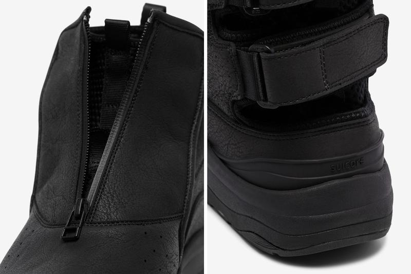 John Elliott x Suicoke Buno Zip Boot Release boots suede footwear shoes black zip-up sneakers