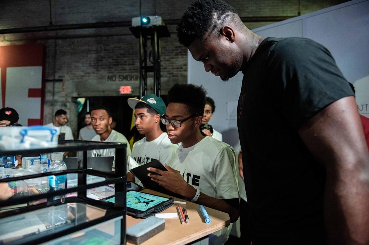 Jordan Brand UNITE Campaign Zion Williamson New Orleans Community Design Event