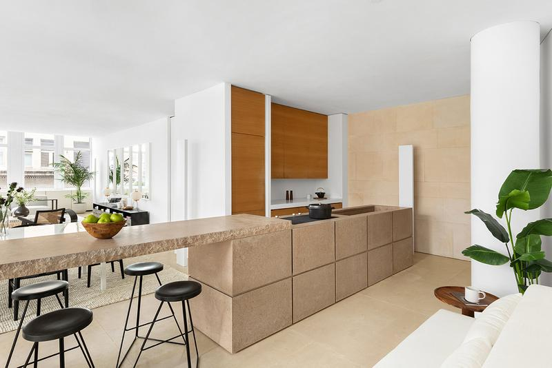 kanye west new york apartment city soho 25 west houston street core emily beare listing buy cop purchase kim kardashian design Claudio Silvestrin architect design minimal