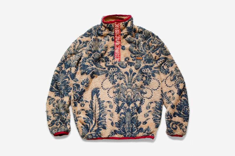 KAPITAL Damask Fleece Zip Jacket snap pullover toro Kiro Toshikiyo Hirata traditional navajo paisley floral indigo poly outerwear fall winter 2019