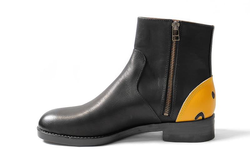 Kapital Smiley Face Heel Zip-Up Boots