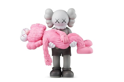 KAWS Announces Retail Collection for Upcoming Exhibition, Previews Pink 'GONE' Companion Figure