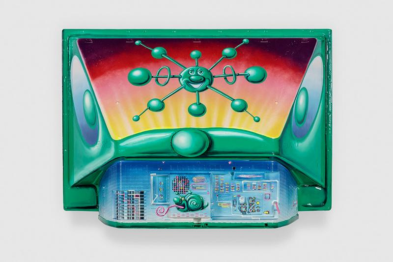 kenny scharf optimistically melting exhibition honor fraser gallery artworks sculptures paintings installations