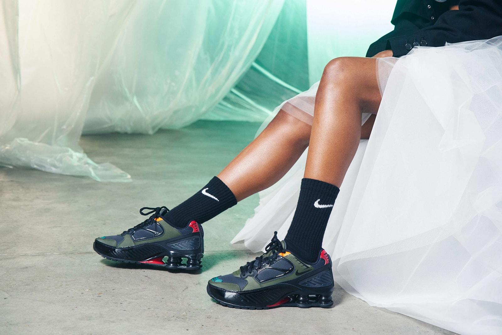 Keyah/Blu Nike Shox Film London Female Musician Sneakers Trainers