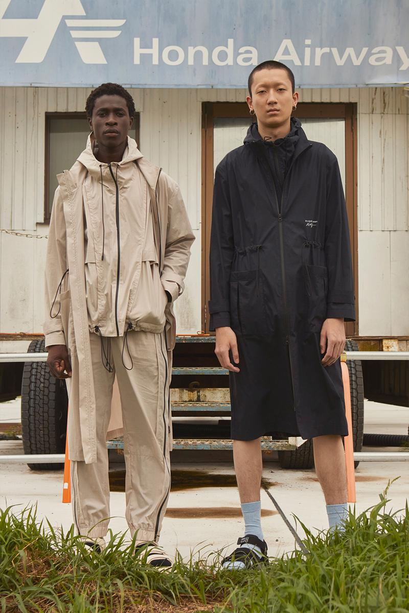 """KINDAGARDEN Spring/Summer 2020 Lookbook Collection Work Shirts Trousers Jackets Black Beige Blue """"Take me to nowhere/everywhere""""  Denim Sandals"""