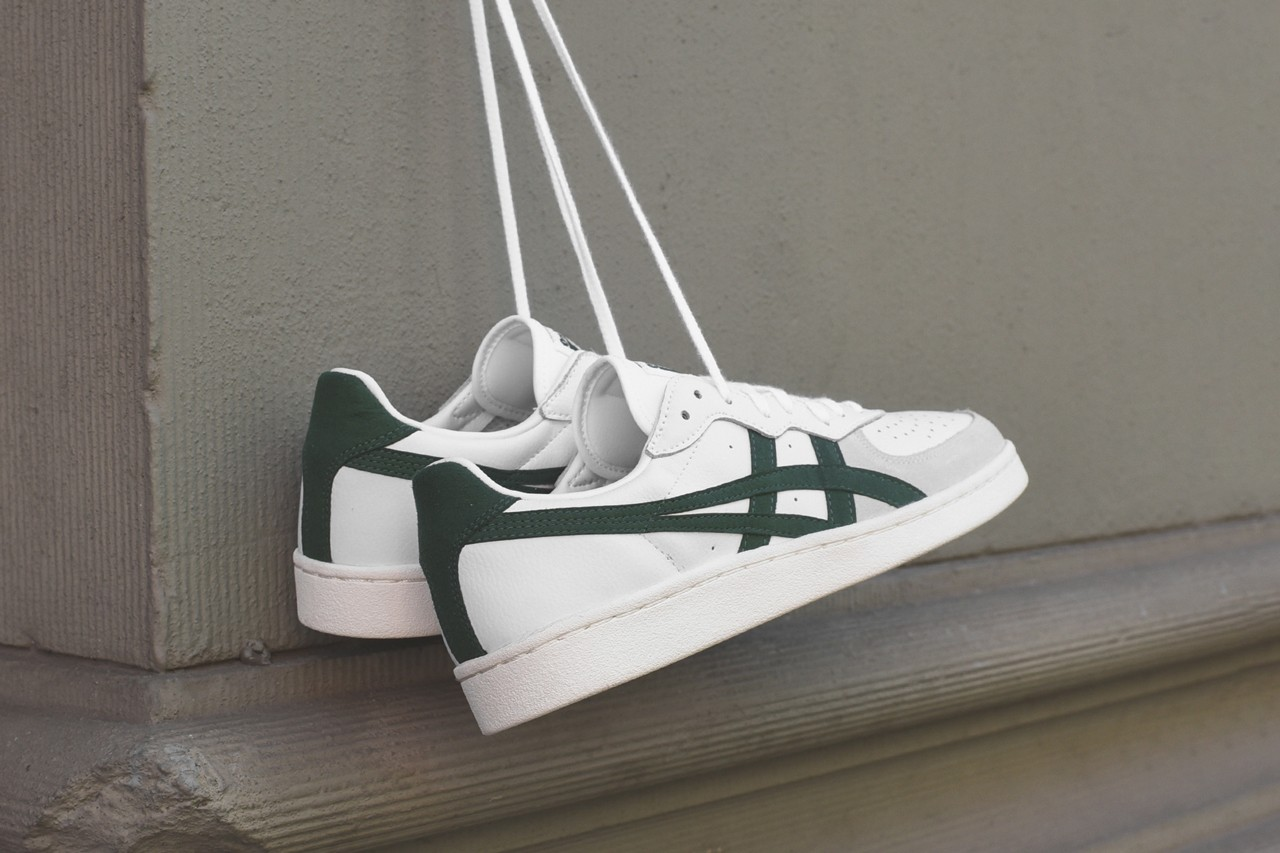 kith onitsuka tiger gsm game set match sneakers collaboration release date exclusives white red green colorway
