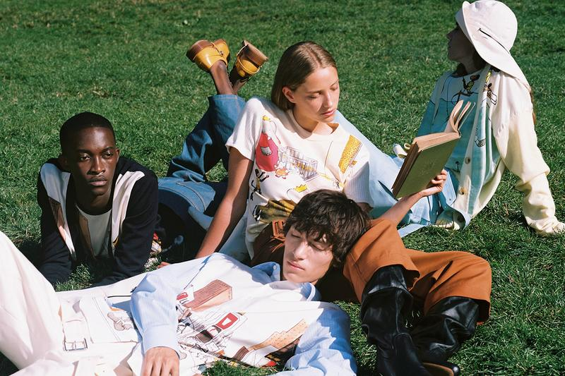 """Lanvin Fall/Winter 2019 """"Babar"""" Collection Lookbook Shots Imagery Campaign Bruno Sialelli """"Babar the Elephant"""" Mascot Silk Scarves Hoodies T-Shirts Boots Hats"""