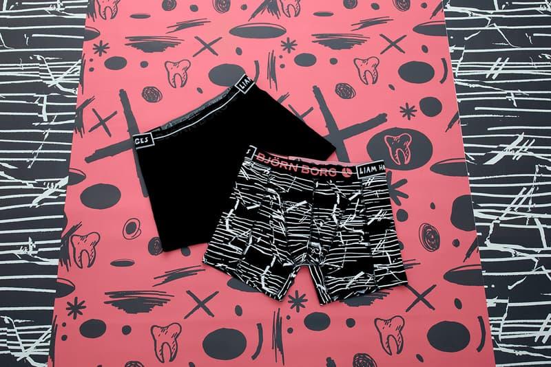 Björn Borg Unveils Collaboration With British Designer Liam Hodges Swedish Fashion Streetwear Hypebeast Luxury Underwear Comfort Graphic Design