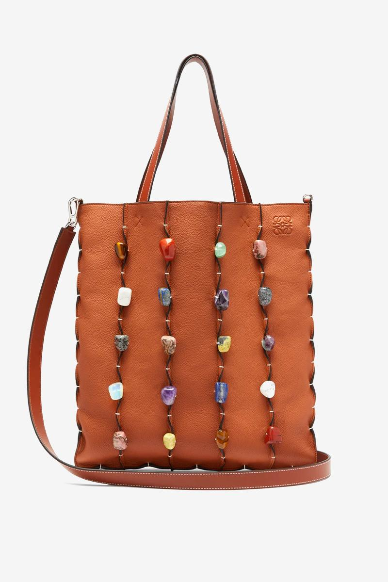 LOEWE Stone-Embellished Leather Tote Bag release where to buy price 2019