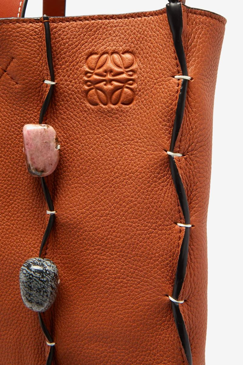 LOEWE Stone-Embellished Leather Tote Bag Release Info Buy Brown