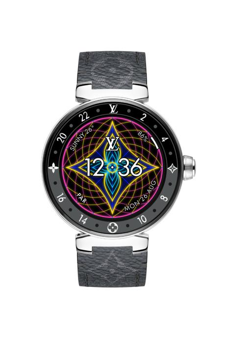 Louis Vuitton LV Neon Tambour Horizon Smartwatch Digital Watch Faces