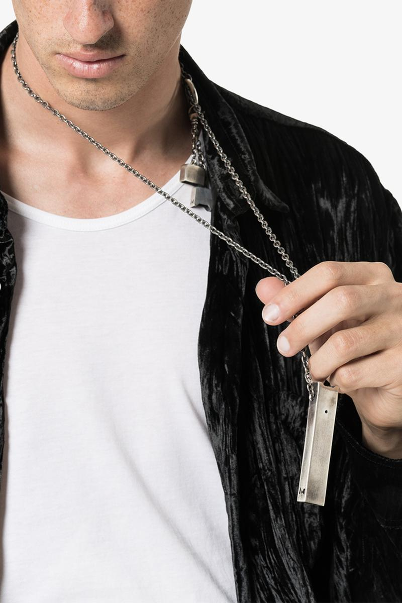M. Cohen Rectangle Pendant Silver Necklace Release JUUL shape sterling chain Los Angeles brand accessories jewelry