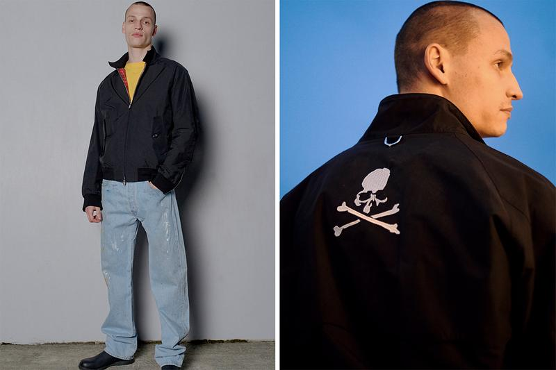 mastermind japan baracuta g9 harrington jacket black embroidery skull and cross bones white tartan lining buy cop purchase release information Masaaki Homma