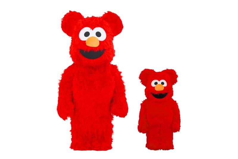 "Medicom Toy BE@RBRICK ""Elmo Costume"" Release Info 400% 1000% figurines memorabilia sesame street puppets drop date"