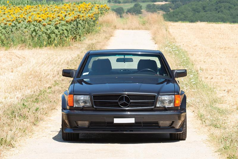 """1991 Mercedes-Benz 560 SEC AMG 6.0 """"Wide-Body"""" Auction For Sale RM Sotheby's Closer Look Classic Automotive Rare Car German Tuning """"Sinister Blauschwarz Metallic"""""""