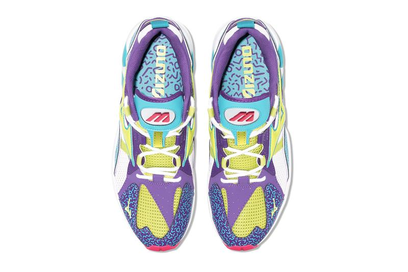 White Wave Rider Fresh 90 Low Top Sneakers d1ga1933 purple turquoise neon red white chunky runner vintage retro design 1990 silhouette pattern