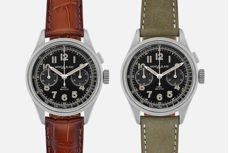 HODINKEE Montblanc Limited Edition 1858 Monopusher Release minerva switzerland watches swiss made accessories