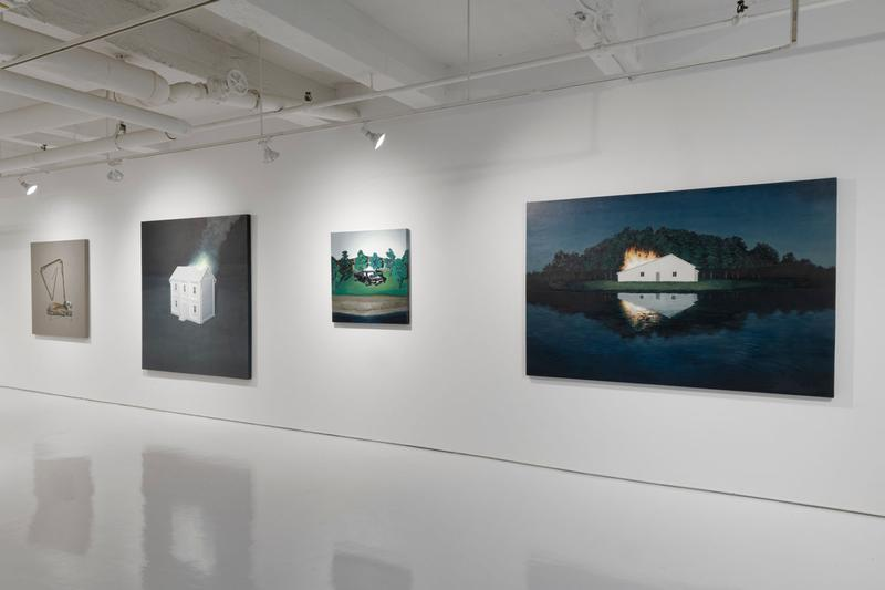 motohide takami fires on another show seizan gallery new york city exhibition artworks paintings