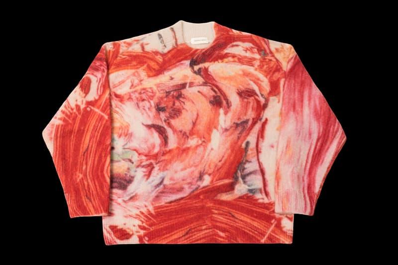 Namacheko FW19 Rezyane Mohair Artist Sweaters print vincent van gogh willem de kooning edvard munch the scream woman starry night fall winter 2019 collection release date drop buy september 2019 3 knitwear knit