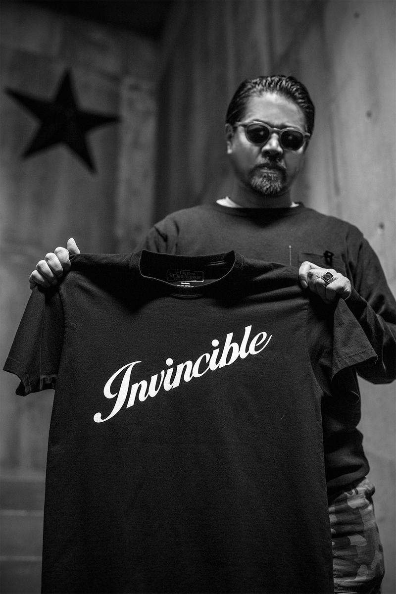 INVINCIBLE for NEIGHBORHOOD 25th Anniversary Pop Up Store Collection taiwan taipei Shinsuke Takizawa motorcyle harley davidson iconic archival designs t shirts beanies orange black fury rebellion