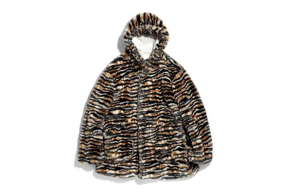 Needles Serves up Thick Fur Coat Emblazoned With Vivid Tiger Stripes