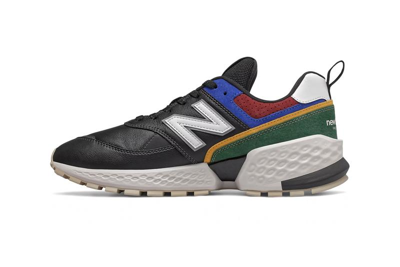 "New Balance 574 Sport V2 ""Black/Team Forest Green"" ""Rain Cloud/Vintage Orange"" Sneaker Release Information First Look Cop Buy Now Online Footwear Minimalist Geometric Leather Suede Mesh Upper Panel Color Blocked"