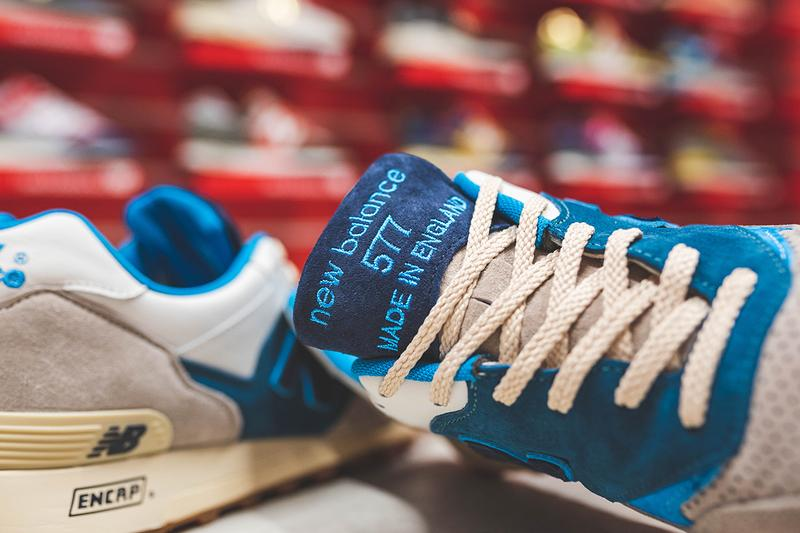 hanon new balance m577 flimby legend sneaker footwear release buy cop purchase made in england grey blue marine information details