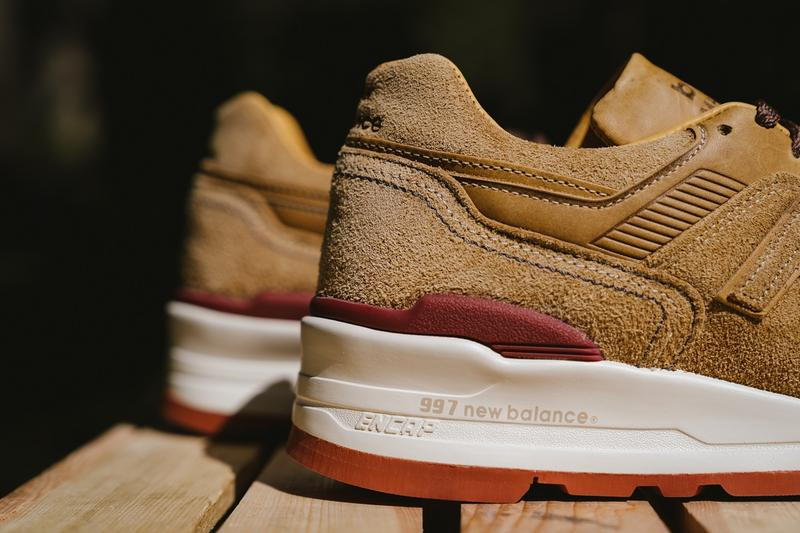 New Balance Red Wing Shoes M997 closer look release info sneakers brown leather suede tan 2019 september purchase cost pics pictures pic image images footwear where to buy price