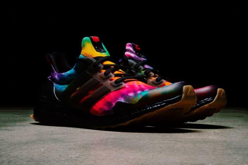 "Nice Kicks x adidas UltraBOOST ""Woodstock"" Black release tie dye collaborations adidas Consortium UltraBOOST"