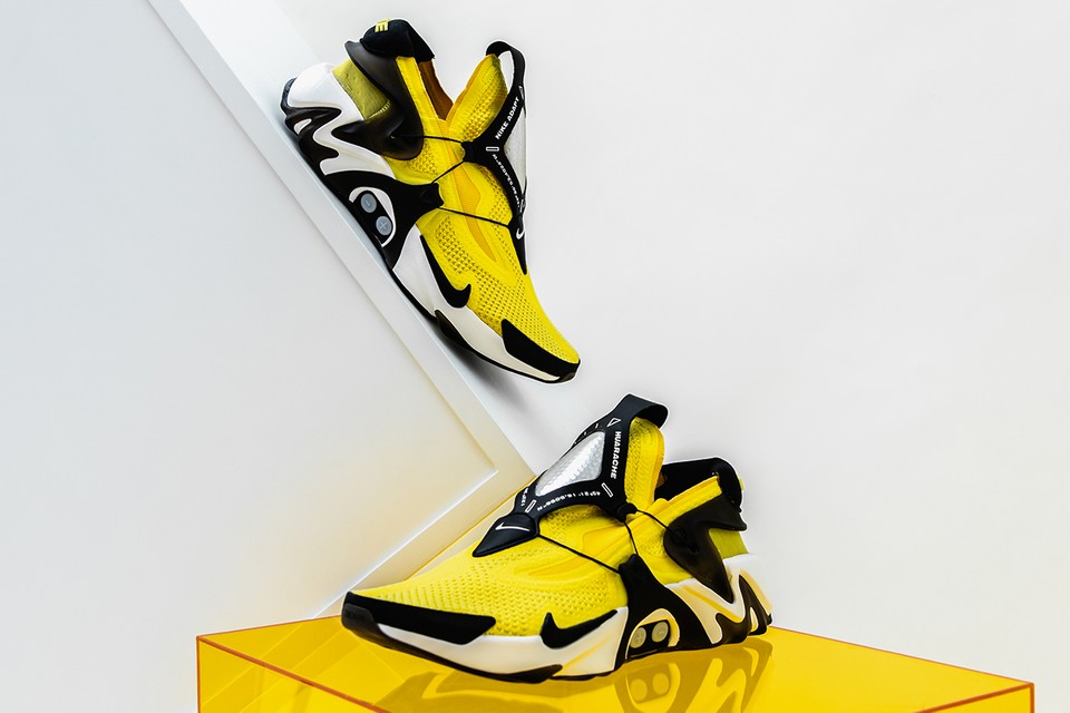"Take a Closer Look at the Nike Adapt Huarache ""Opti-Yellow"" on Foot & in Action"