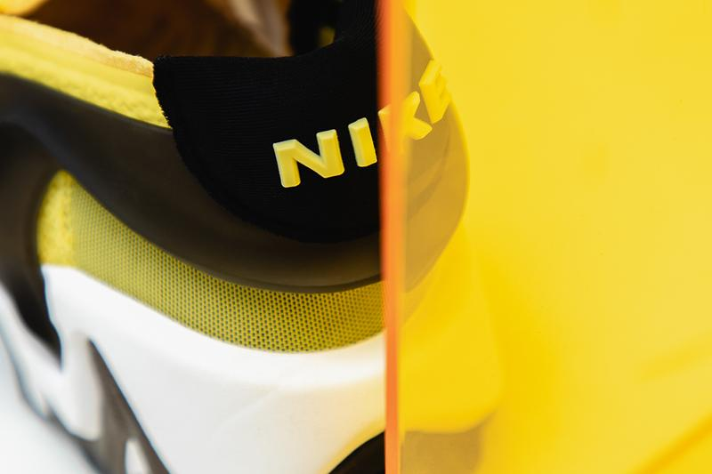 "Nike Adapt Huarache ""Opti-Yellow"" Closer Look On Foot Video Watch Online YouTube Editorial Pictures Technology Sneaker Shoe Power Lacing System LED Lighting"