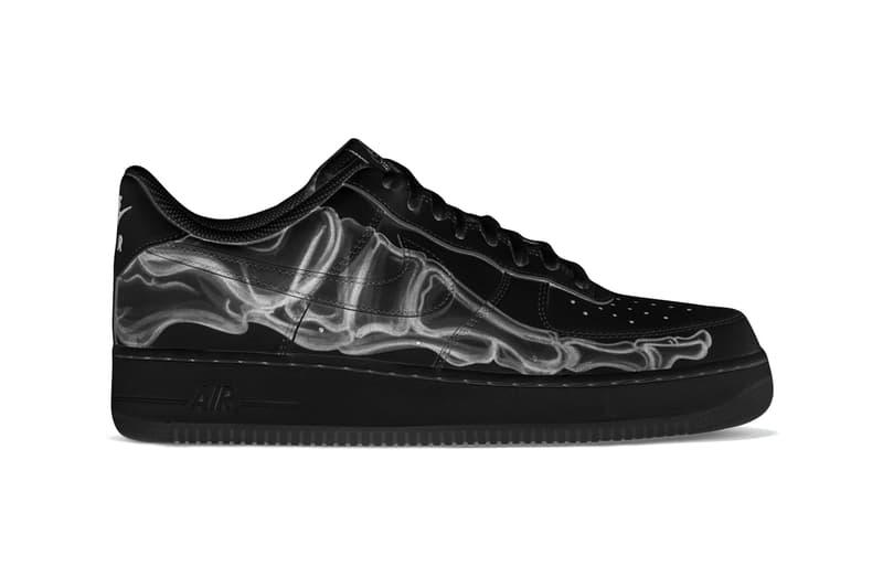 "Nike Air Force 1 '07 ""Black Skeleton"" sneaker where to buy price release 2019"