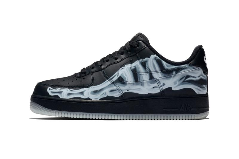 Nike Air Force 1 '07 Black Skeleton Halloween Info Release 2019